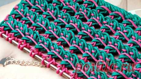 Очень интересный узор спицами. | Asha. Вязание и дизайн.🌶 | Яндекс Дзен