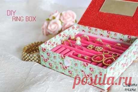 Casket for jewelry from hair curlers for hair