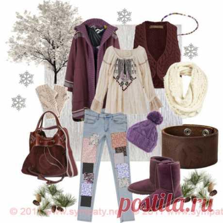 Стиль хиппи: теплый вариант для осени и зимы
