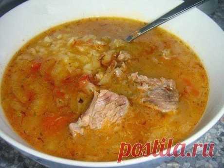 Шустрый повар.: Густой грузинский суп Харчо.