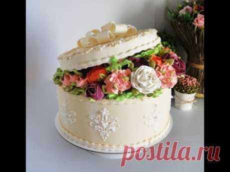 Торт Джесси  - 2 часть - сборка торта коробки