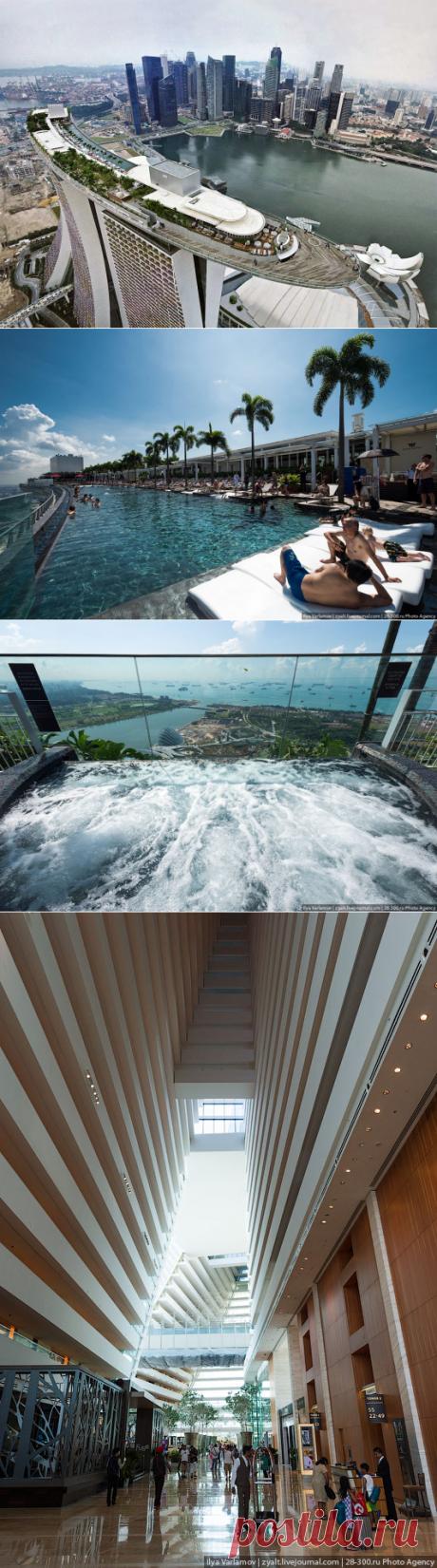 Отель Marina Bay Sands, бассейн под облаками — Вокруг Мира