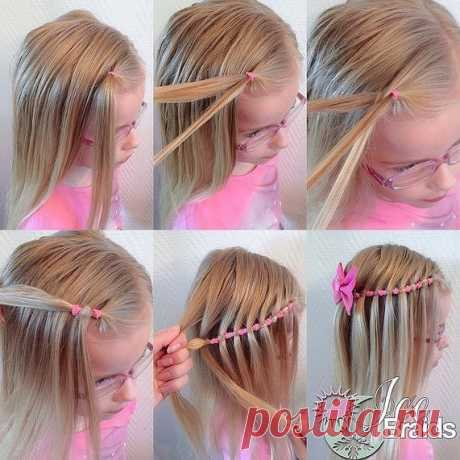 Hairdress for the girl