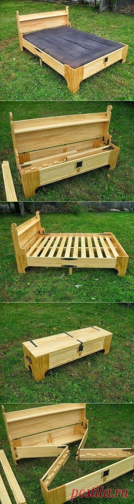 Кровать-ящик, ящик-кровать... Это нереально круто!