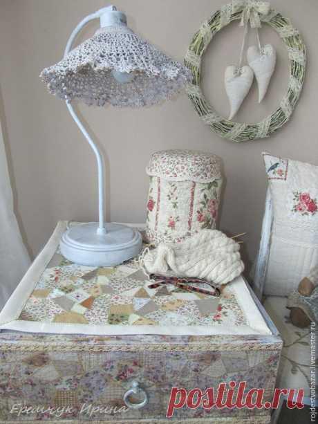 Салфетка из обрезков ткани своими руками - Ярмарка Мастеров - ручная работа, handmade