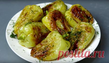 Жареный болгарский перец с чесноком и помидорами: на двоих готовлю 4 порции, иначе не хватает | Кухня наизнанку | Яндекс Дзен
