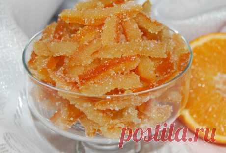 Цукаты из апельсиновых (и лимонных) корок в домашних условиях - рецепт приготовления