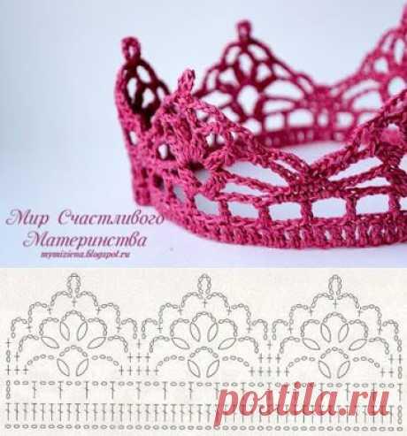 Схемы корон для ваших принцесс Схемы корон для ваших принцессКто сказал, что корона должна быть с бриллиантами?В современном мире корона может быть связана из пряжи.Творите и вытворяйте - и будьте счастливы.