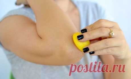 How to get rid of dry and dark skin on elbows, knees, a neck and armpits
