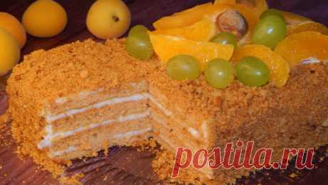 "Вкуснейший торт""Медовик! Без раскатки коржей!   Алла Фомина   Яндекс Дзен"