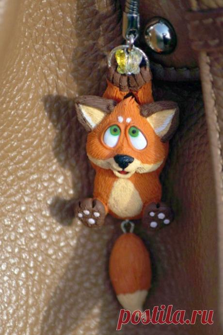 Пробный МК: Как сделать лисёнка с болтающимся хвостиком | VK