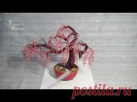 Искусственный бонсай. Сакура. Artificial bonsai.