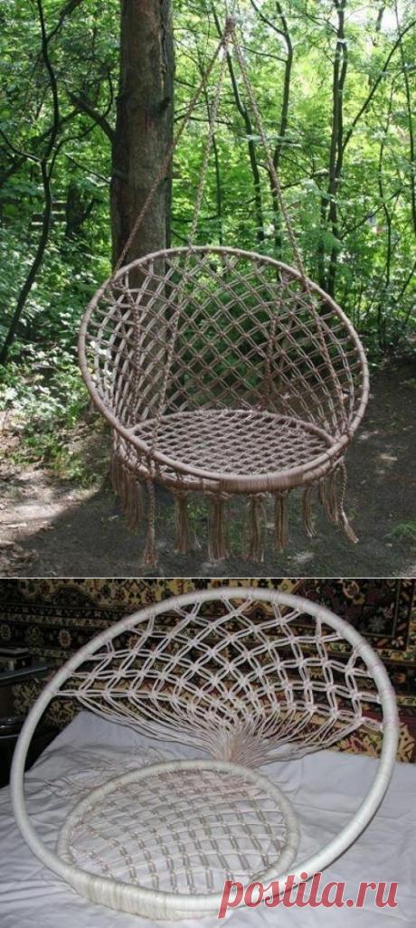 Круглое кресло в технике макраме. | Все о ремонте