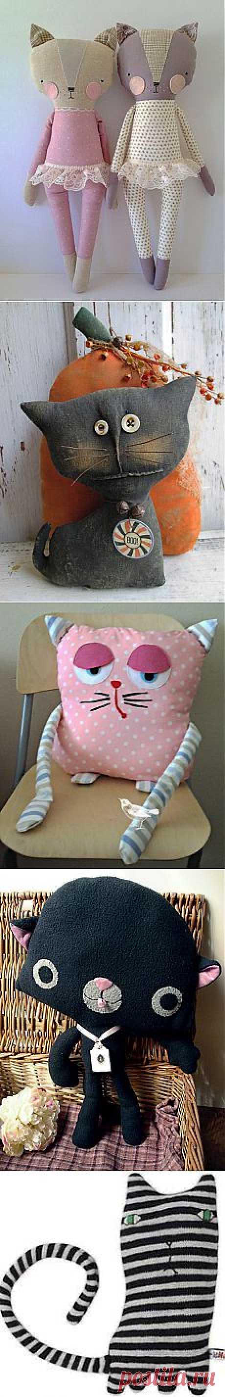 """Идеи для игрушек. Часть 2. """"Котя, котенька-коток, котик, серенький лобок..."""" - Ярмарка Мастеров - ручная работа, handmade"""