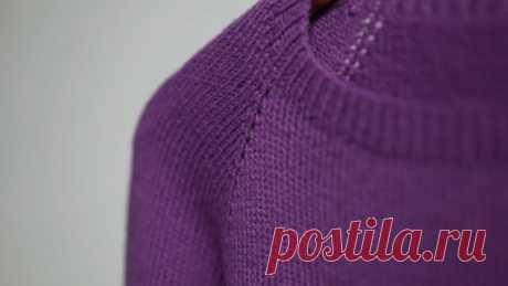 Расчёты при вязании свитера регланом сверху (Уроки и МК по ВЯЗАНИЮ) — Журнал Вдохновение Рукодельницы