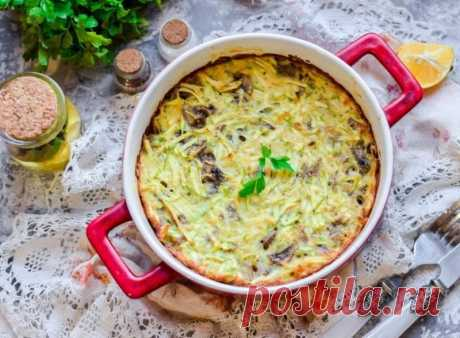 Запеканка из кабачков с грибами — Sloosh – кулинарные рецепты