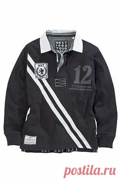 Buy Black Rugby Top (3-16yrs) from the Next UK online shop