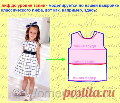 Лиф для детского платья — просто и быстро. Часть 1. |