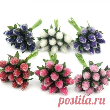 Клубнички 12 шт, 6 цветов