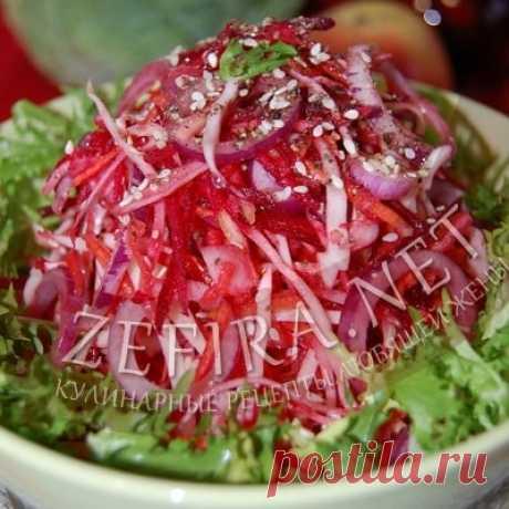 Рецепт простого салата «Здоровье» из капусты, моркови и свеклы — Кулинарные рецепты любящей жены