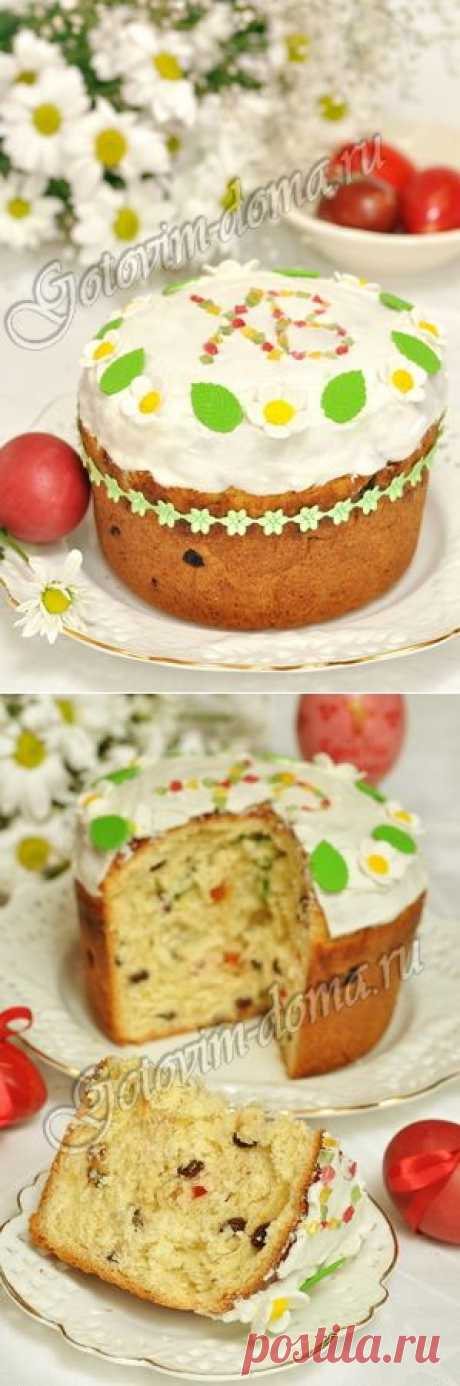 Recipe: An Easter cake with candied fruits and raisin