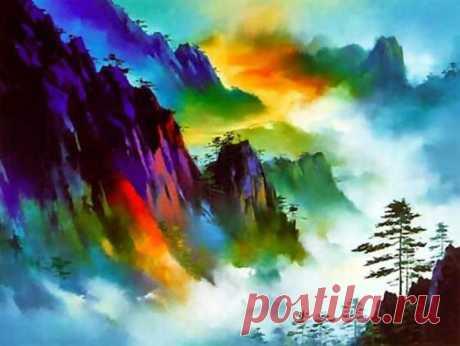 Фантастический краски и величественные пейзажи на картинах художника Хонга Леунга (Hong Leung)