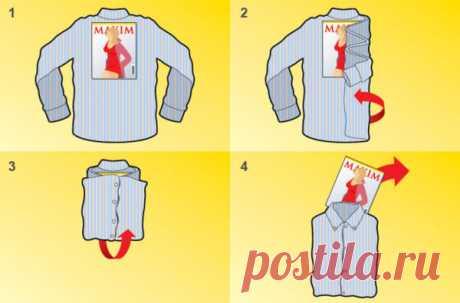 Как сложить рубашку с длинным рукавом? — Полезные советы