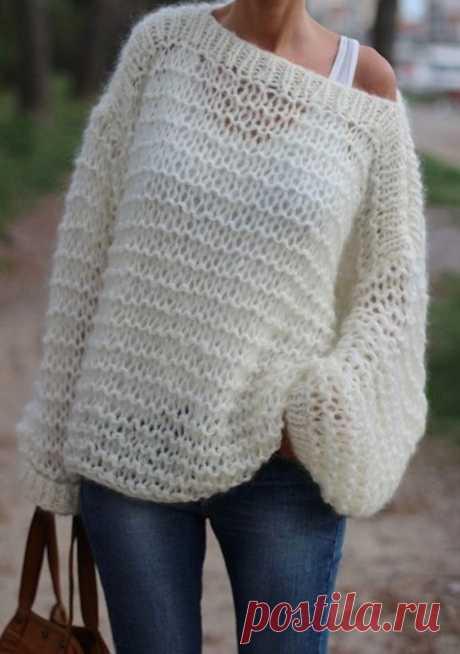 Вязаный женский свитер (121 фото) 2020: крупной вязки, модели, грубой вязки, реглан, толстой вязки, красивые, модные
