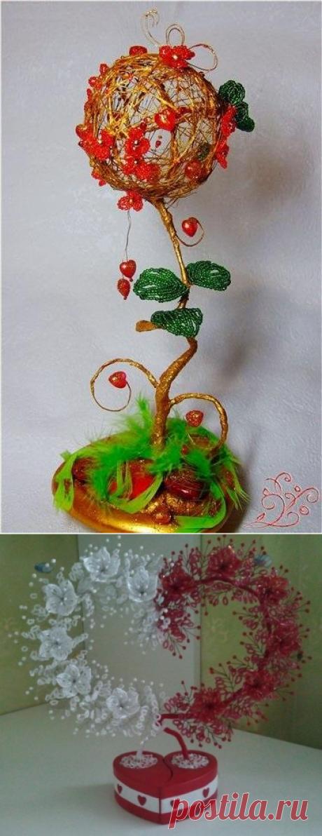 Дерево любви из бисера ❤ Мастер-класс со схемами и фото | Domigolki.ru