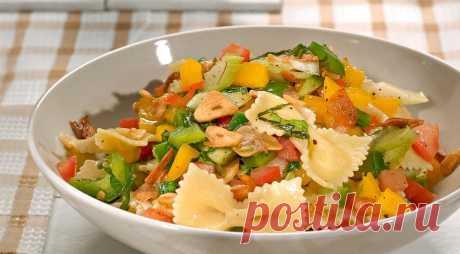 Салат из пасты с овощами, пошаговый рецепт с фото