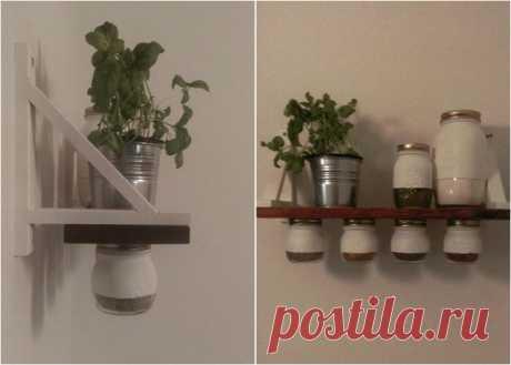 Как сэкономить место на кухне: полочка для специй своими руками | Своими руками