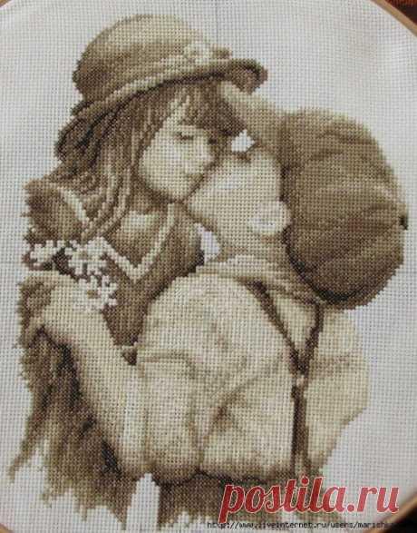 """Вышивка """"Первый поцелуй"""""""