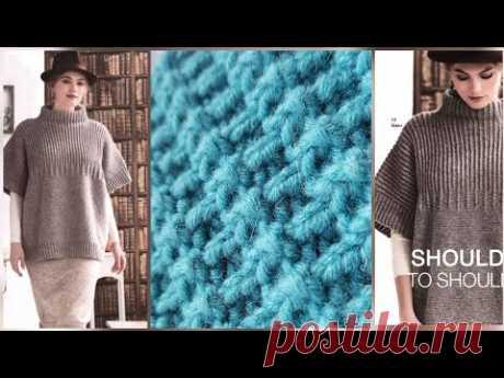 Вяжем стильный ребристый узор с эффектом гофре 🚩 knitting pattern.