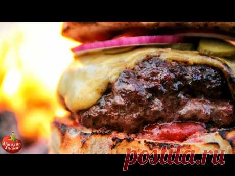 MOST.EPIC.CHEESEBURGER! - Stone-Fried in the Forest Juicy free-range beef putty that is cooked using special techniques that you won't see anywhere else! Plus some crispy fries cooked on fire and home made bread. All cooked outside on beautiful nature from fresh organic ingredients. This video will put you
