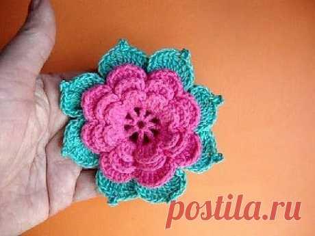 ▶ Как вязать розу крючком Урок19 Howto crochet rose Сomment tricoter une rose - YouTube