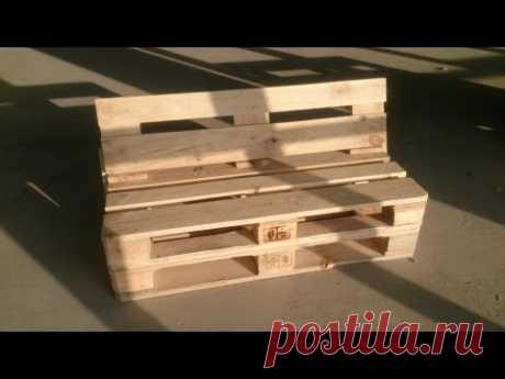 Мебель из паллет - Легко своими руками - Диван из поддонов