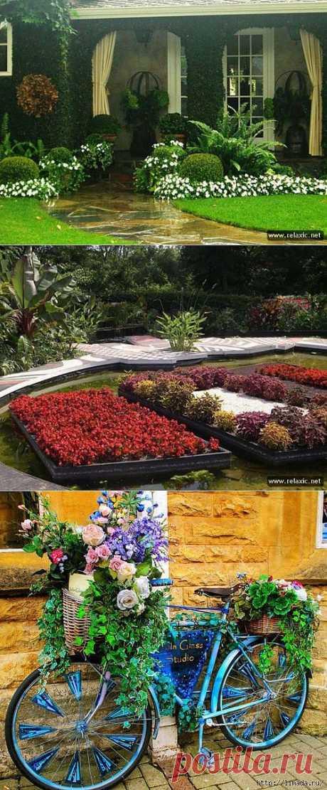 Садовые идеи (шашлычница МК,клубы из камня,галька)