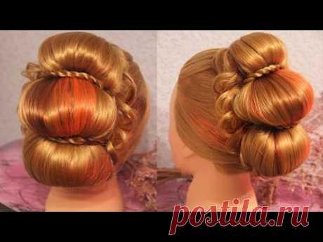 Причёска в стиле ренессанса | Авторские причёски | Лена Роговая | Hairstyles by REM | Copyright ©