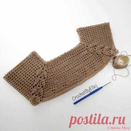 Реглан с рельефом • Мотив с листиками - Вязание - Страна Мам