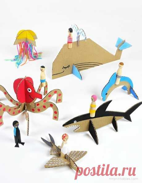Игрушки из картона — Поделки с детьми