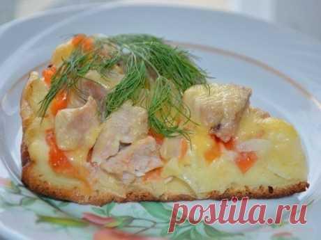 """Веб Повар!: Пицца """"Быстрее просто не бывает"""", жаренная на сковороде."""