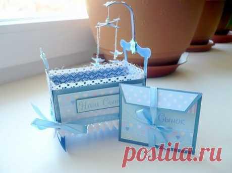 Открытка для новорожденного / Работа с бумагой / PassionForum - мастер-классы по рукоделию