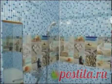 Ремонт за 4500р. в ванной. Панели пвх на клей