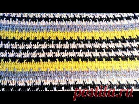 Простой рельефный узор крючком для мужского свитера