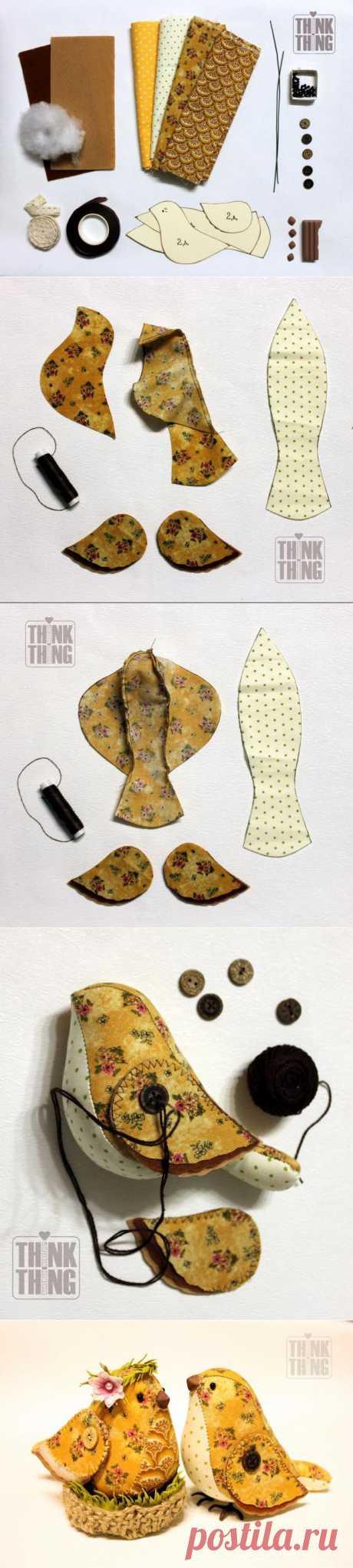 """Как сделать сувенир """"Весенние птички"""" - Ярмарка Мастеров - ручная работа, handmade"""