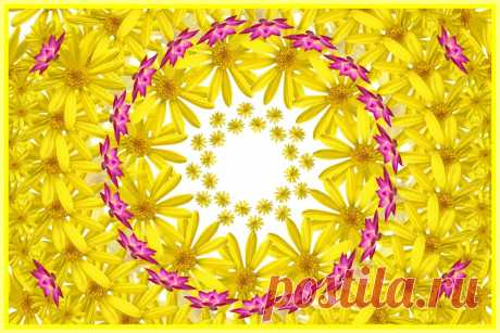 Yellow Mandala With Flowers  Free Stock Photo HD - Public Domain Pictures