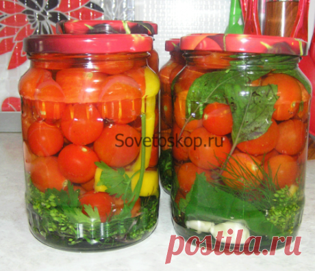 Маринованные помидоры черри без стерилизации