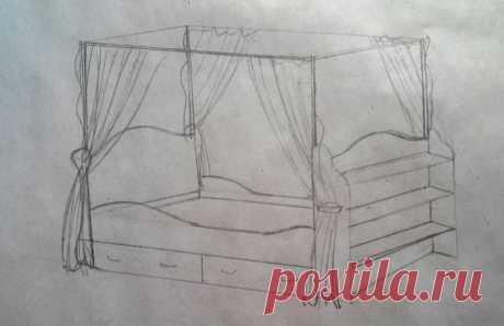 Кровать своими руками От автора: Долго ходили с женой по магазинам в поисках кроватки, но все какая то ерунда однотипная попадалась. А если и находились красивые детские кроватки, то их цена была космической. В общем я пси…