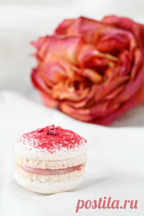 Verdade de sabor: Макаронс с малиной и розовой водой / Macarons de framboesa e água de rosas