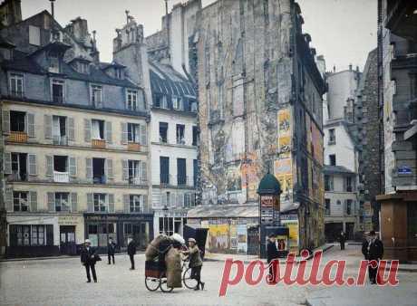 Цветные фотографии Парижа 1914 года. — Путешествия